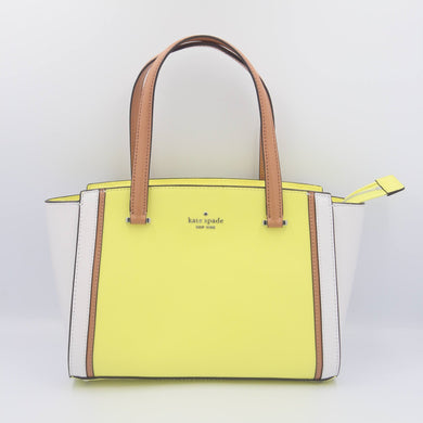 Kate Spade Patterson Drive Colorblock Small Geraldine Satchel Bag WKRU6613 In Limelight Multi