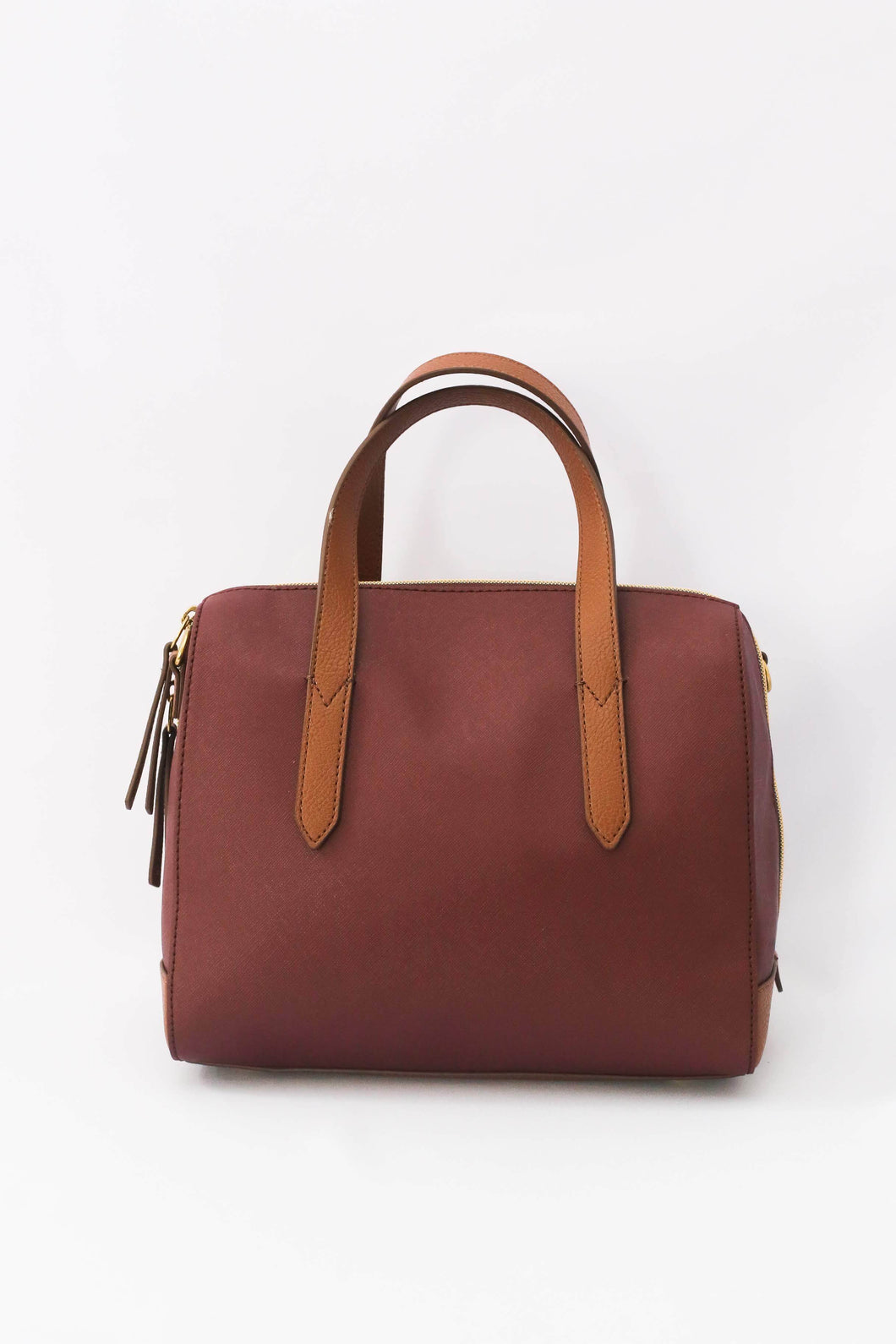Fossil Sydney Satchel In Cabernet
