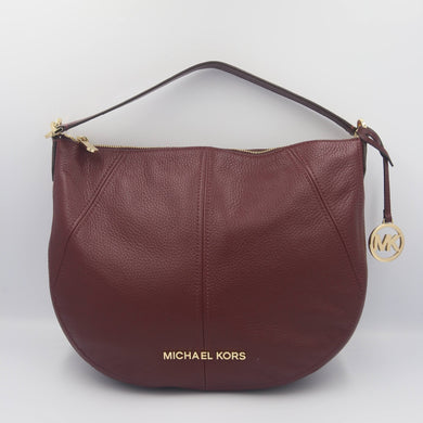 Michael Kors Bedford Medium Crescent Shoulder Bag 35T9GBFL6L In Merlot