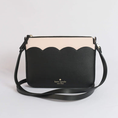 Kate Spade Magnolia Street Small Top Zip Crossbody WLRU5776 In Black/Dolce