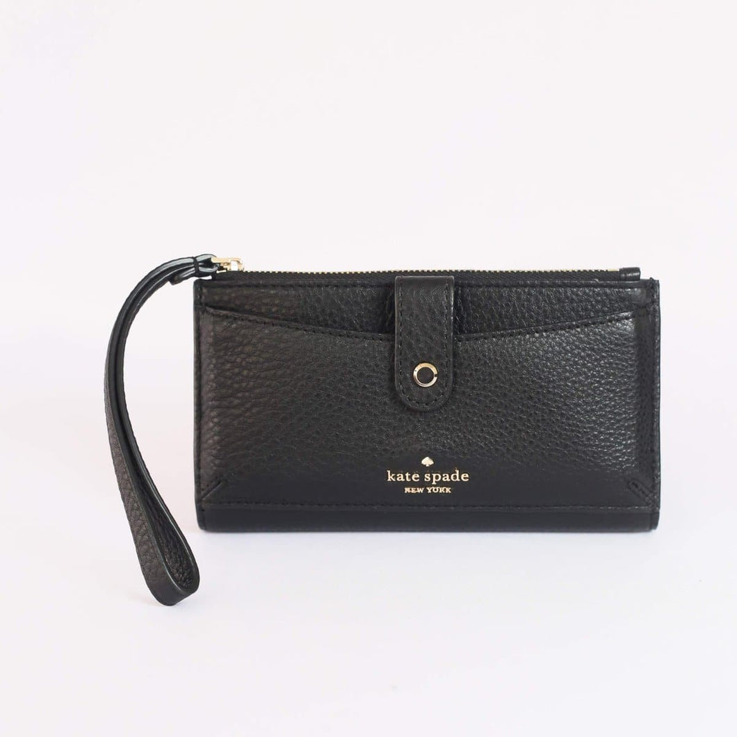 Kate Spade Jackson Medium Universal Phone Wristlet WLRU5843 In Black