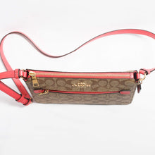 Load image into Gallery viewer, Coach Signature Gallery File Crossbody Bag F91013 In Khaki Poppy