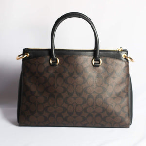 Coach Signature Mia Satchel F76643 In Brown Black