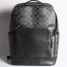 Load image into Gallery viewer, Coach Signature Graham Backpack F38755 In Charcoal Black