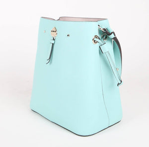 Kate Spade Large Marti WKRU6827 Bucket Crossbody Bag In Aqua Bloom
