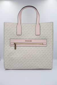 Michael Kors Kenly 35T0GY9T3B Large NS Tote Bag In Powder Blush