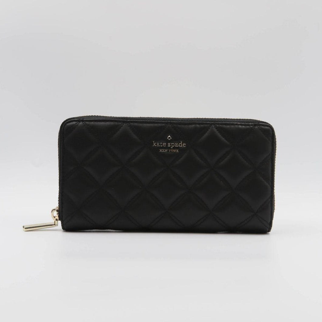 Kate Spade Large Natalia WLRU6340 Continental Wallet In Black