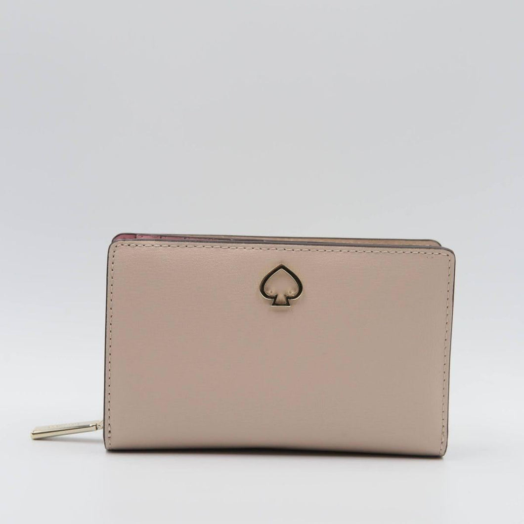 Kate Spade Medium Adel WLRU6082 Bifold Wallet In Warmbeige