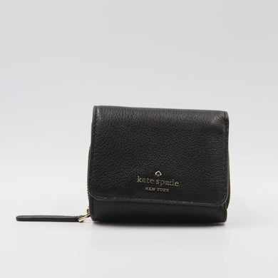 Kate Spade Small Jackson WLRU6328 Trifold Continental Wallet In Black