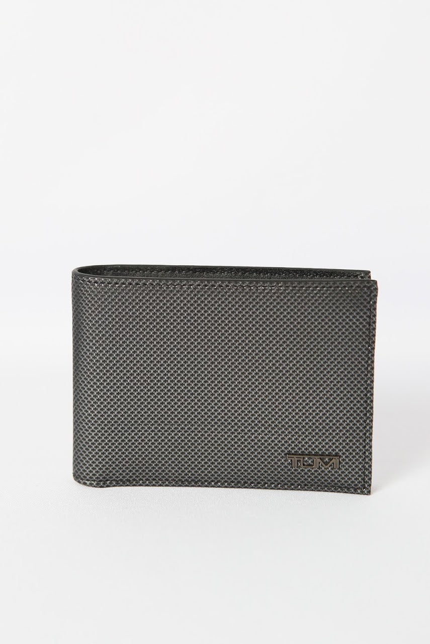 Tumi Double Billfold (Gun Metal Texture)