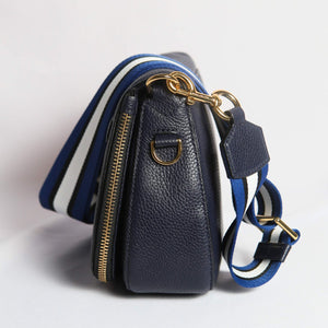 Marc Jacobs Gotham Small Nomad Crossbody Bag In Navy
