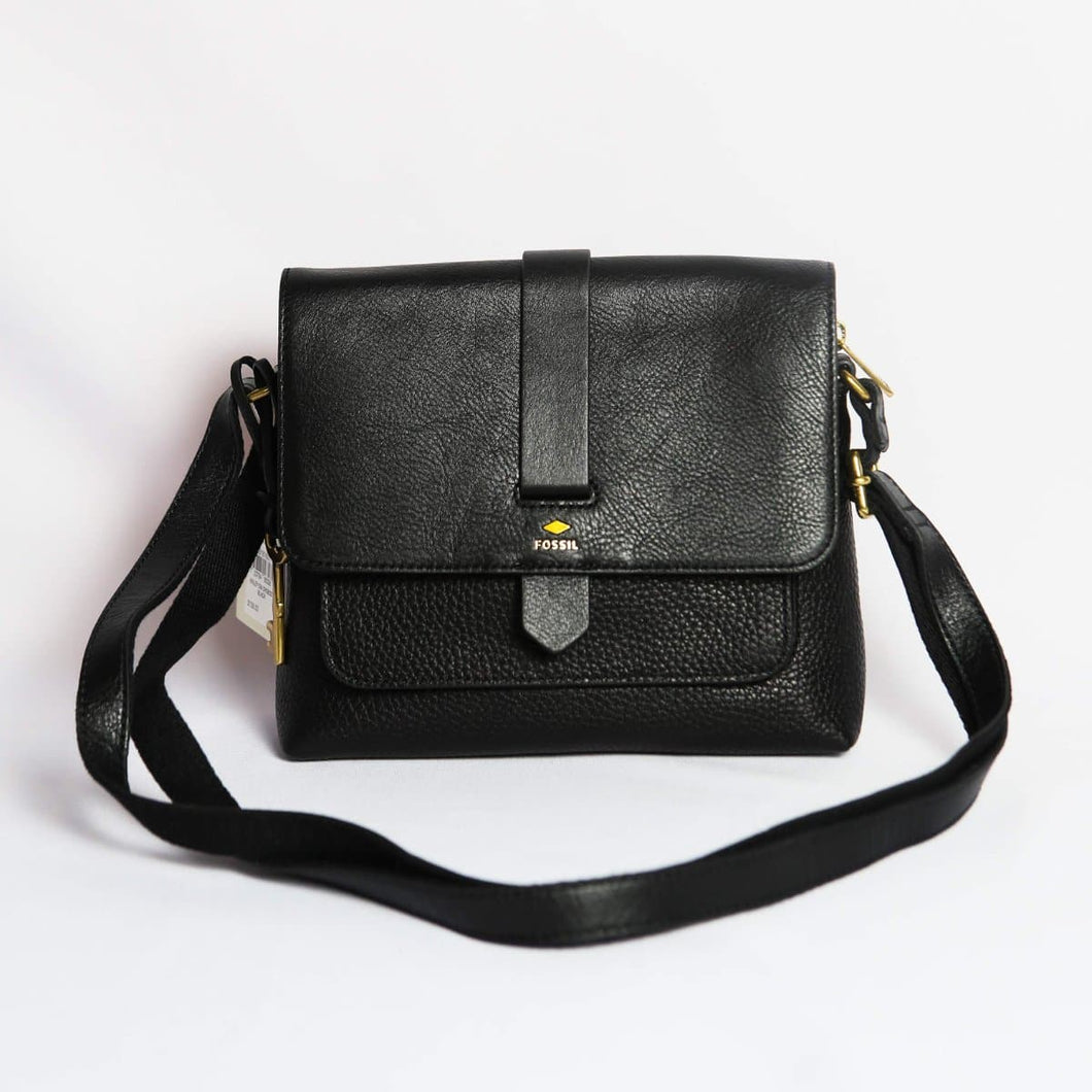 Fossil Small Kinley Crossbody Bag In Black