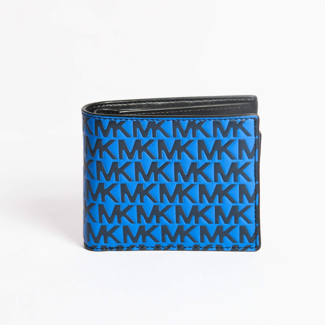 Michael Kors Harrison Billfold With Passcase 36S0LCOF2L In Navy/ Atlantic Blue