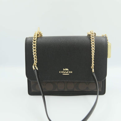 Coach Signature Klare Crossbody 91019 In Brown Black