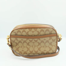 Load image into Gallery viewer, Coach Signature Jes Crossbody Bag F68168 In Khaki Saddle