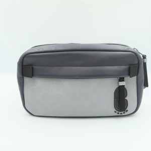 Coach Edge Belt Bag With Reflective Signature 89919 In Silver