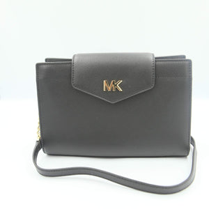 Michael Kors Mott Large Clutch Crossbody Bag 35S0GOXC7L In Black