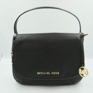 Michael Kors Bedford Medium Convertible Flap Shoulder Bag 35T9GBFL2L In Black