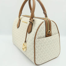Load image into Gallery viewer, Michael Kors Bedford Large Duffle Satchel 35F9GBFU3B In Vanilla