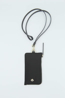 Kate Spade Jae Card Case Lanyard WLRU5927 In Black