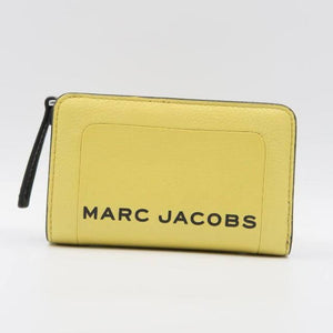 Marc Jacobs Compact Leather M0015105 Wallet In Lime