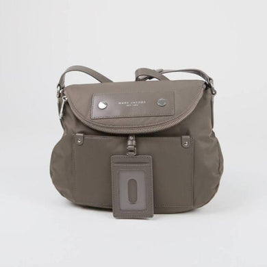 Marc Jacobs Natasha M0014625 Preppy Nylon shoulder Bag In Quartz Grey