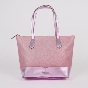 Kate Spade Lola WKR00152 Glitter Tote Bag In Rose Pink