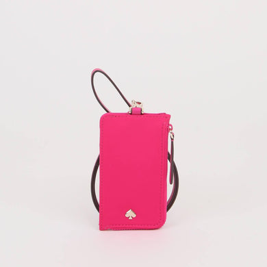 Kate Spade Jae Card Case Lanyard WLRU5927 In Bright Magenta