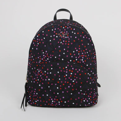 Kate Spade Large Karissa Quilted WKR00084 Nylon Backpack In Festive Multi