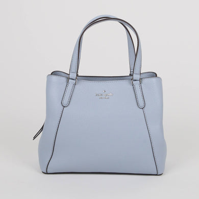 Kate Spade Medium Jackson WKRU6040 Triple Compartment Satchel Bag In Frosted Blue