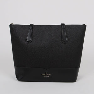 Kate Spade Lola WKR00152 Glitter Tote Bag In Black
