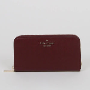 Kate Spade Large Staci WLR00130 Continental Wallet In Cherrywood