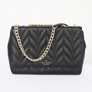 (AS IS) Kate Spade Emelyn Briar Lane Quilted WKRU5762 In Black