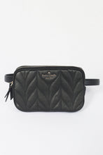 Load image into Gallery viewer, Kate Spade  Briar Lane Quilted Double Zip Belt Bag WKRU6162 (Black)