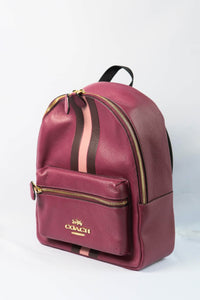 Coach Jes Backpack With Varsity Stripe F89167 IMPHL In Dark Berry