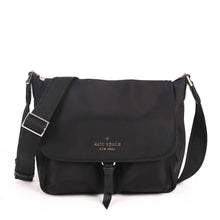 Load image into Gallery viewer, Kate Spade Carley WKR00297 Flap Messenger Bag In Black