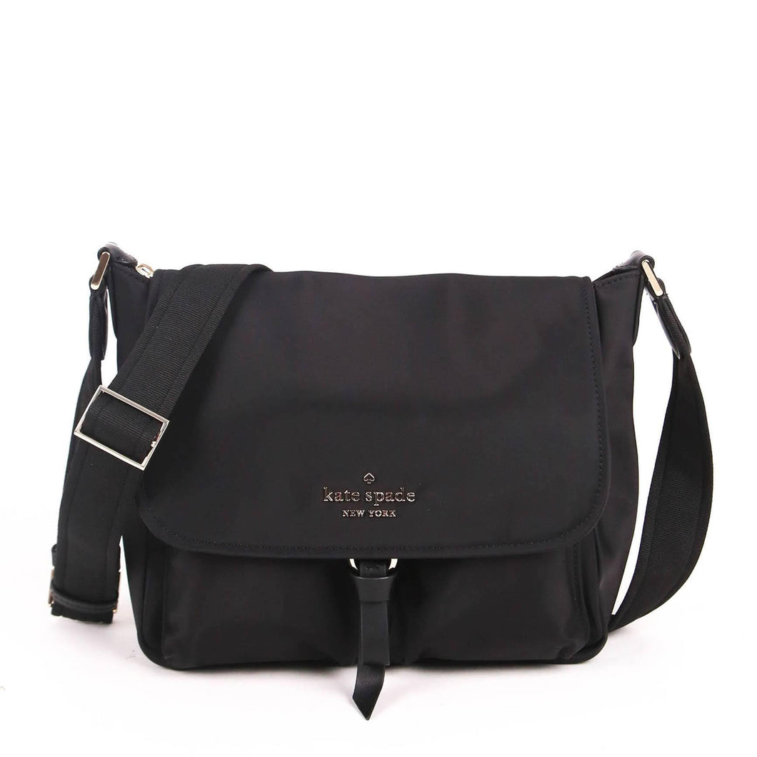 Kate Spade Carley WKR00297 Flap Messenger Bag In Black