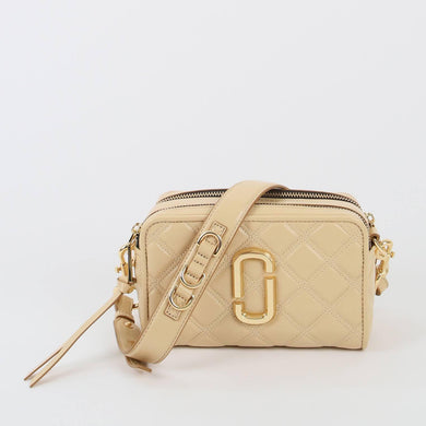 Marc Jacobs The Quilted SoftShot 21 M0015419 Crossbody Bag In Beige