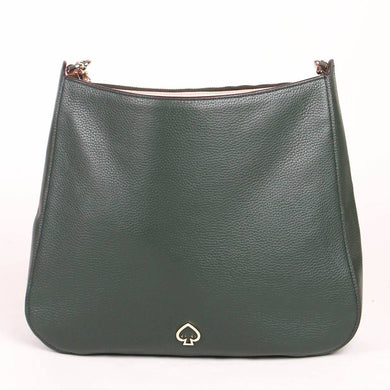 Kate Spade Medium Kailee WKRU6486 Double Compartment Shoulder Bag In Deep Evergreen