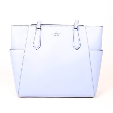 Kate Spade Medium Tippy WKRU7104 Top Zip Tote Bag In Frosted Blue