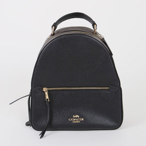(Preloved) Coach Jordyn Backpack with Signature Canvas F76622 (Brown/Black/Gold)