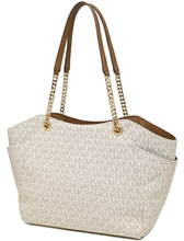 Load image into Gallery viewer, Michael Kors Jet Set Travel Large Chain Shoulder Tote 35F8GTVE7B In Vanilla