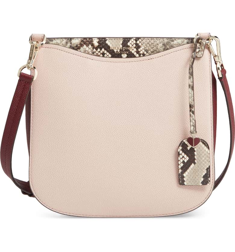 KATE SPADE MARGAUX EMBOSSED SNAKE LARGE CROSSBODY PXRUA345 IN PALEVELMUL