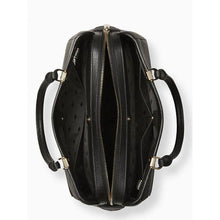 Load image into Gallery viewer, Kate Spade Medium Leila WKR00335 Triple Compartment Satchel Bag In Black