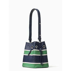 Kate Spade Small Marti WKR00350 Stripe Applique Bucket Bag In Multi