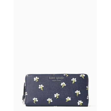 Kate Spade Cameron Daisy Toss WLRU6109 Large Continental Wallet In NightCap Multi