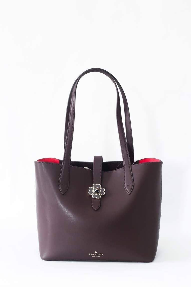 Kate Spade Kaci Small Tote WKRU6287Z (Chocolate Cherry)