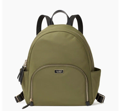 Kate Spade Large Dawn Backpack WKRU5919 (Olive Sapling)