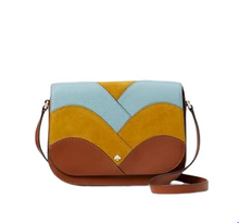 Load image into Gallery viewer, Kate Spade Nadine Patchwork Medium Flap (Warm Gingerbread Multi)