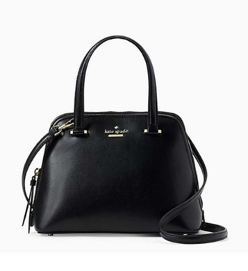 Kate Spade Small Dome Patterson Crossbody Satchel WKRU6058 (Black)